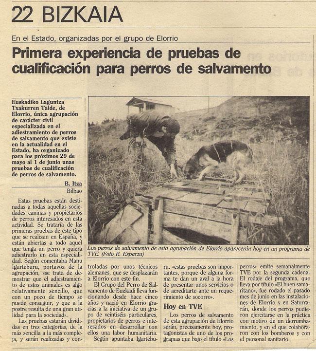 PH Elorrio mayo 1986